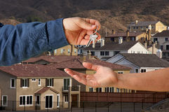 Handing Over the Keys Stock Image