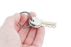 Handing over keys Royalty Free Stock Photography