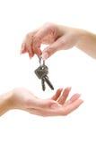 Handing Over Keys royalty free stock photos