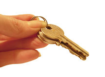 Handing over the keys Royalty Free Stock Photo