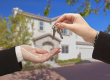 Handing Over The Keys and New House Stock Photos