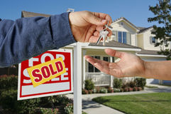 Handing Over the Keys to A New Home Stock Photo
