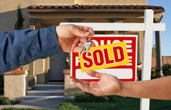 Handing Over the Keys to A New Home Royalty Free Stock Photography