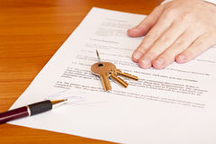 Free Handing Over Of Keys After Contract Signing Stock Photo - 17164460