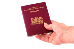 Handing over passport. Royalty Free Stock Image