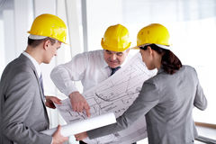 Handing-over of project Stock Photo