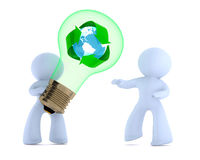 Handing over the recycling idea Stock Photography