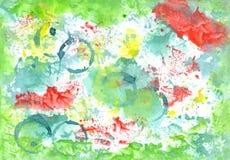 Handiwork aguacolor colored    background. Gorgeous illustration Stock Image