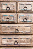 Handiwork drawer. Retro drawer is finished by hand stock photography