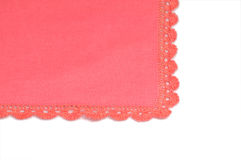Handkerchief. A pretty hankie ready to be used stock images