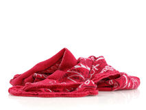 Handkerchief. Isolated red handkerchief on a white background Stock Image