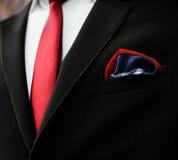 Handkerchief in the breast pocket Stock Photo