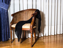 Handkerchief on a chair Stock Photo