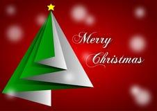 Handkerchief green christmas Stock Images