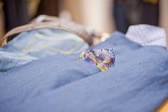 Handkerchief in his jacket pocket Stock Image