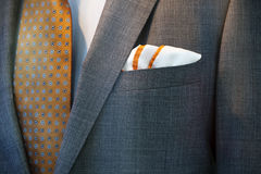 Handkerchief, jacket, tie and shirt. Tasteful combination of the handkerchief, Jacket, tie and shirt Royalty Free Stock Photography