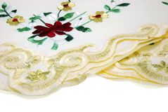Handkerchief Lace. Isolated on White Background Royalty Free Stock Photos