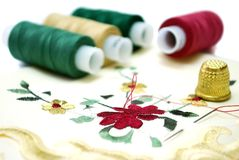 Handkerchief Sewing Royalty Free Stock Photos
