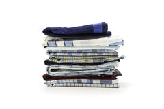 Handkerchiefs for men on a white background Royalty Free Stock Photos