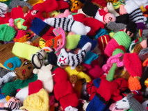 Handknit Finger Puppets From Peru Stock Image
