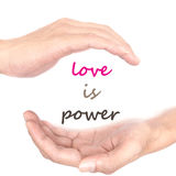 Handkonzept für Liebe ist- Energie Lizenzfreie Stockfotografie