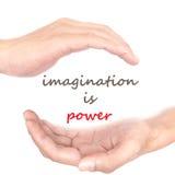 Handkonzept - Fantasie ist- Energie Lizenzfreies Stockfoto