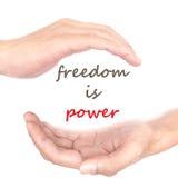Handkonzept - Freiheit ist- Energie Lizenzfreie Stockfotos