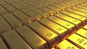 handla för gods för finans för tacka för rikedom för kassa för guld- stänger för guld- guldtacka 4k lyxigt stock illustrationer