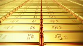 handla för gods för finans för tacka för rikedom för kassa för guld- stänger för guld- guldtacka 4k lyxigt royaltyfri illustrationer