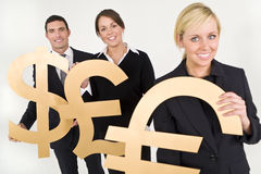 handla för valuta Fotografering för Bildbyråer