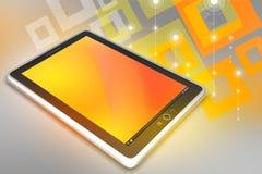 Handlag avskärmer tabletdatoren Arkivfoton