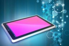 Handlag avskärmer tabletdatoren Fotografering för Bildbyråer