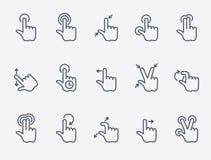 Handlaget gör en gest symboler vektor illustrationer