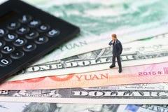 Handlar den ekonomiska riktningen för USA- och Kina finans, det krig-, import- och exportavtalet och överenskommelsebegreppet, rä royaltyfri bild