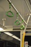 Handlauf auf einem MTR-Zug in Hong Kong Lizenzfreie Stockfotografie