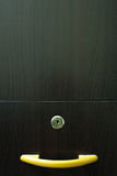Handle. Take from modern design wardrobe,real wood Royalty Free Stock Photography