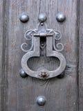 Handle. Old door detail Stock Image