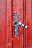 Handle of an ancient door Stock Photo
