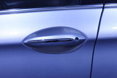 Handle of auto door Stock Photos