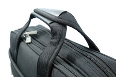 Handle of black business suitcase - isolated Royalty Free Stock Image