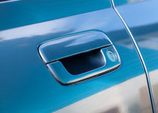 Handle of car door Stock Image