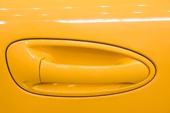 Handle of car door Stock Images