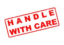 Handle with care. A handle with care stamp Stock Photography