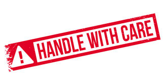 Handle with care rubber stamp Stock Image
