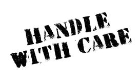 Handle With Care rubber stamp Royalty Free Stock Photography