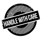 Handle with care rubber stamp Royalty Free Stock Image