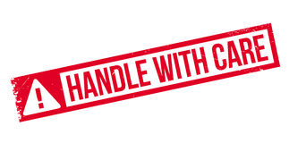 Handle With Care rubber stamp Royalty Free Stock Photo