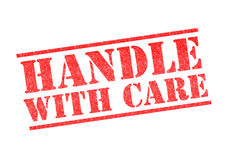 HANDLE WITH CARE Stock Image