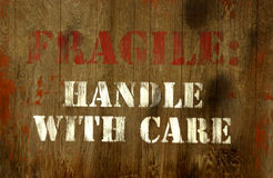 Handle with care sign Royalty Free Stock Photo
