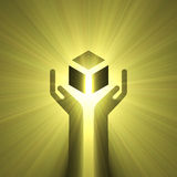 Handle with care sign light flare Royalty Free Stock Photography